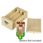 DIY Wooden + Plastic Puzzle Assemble Missile Jeep w/ Remote Controller - Light Ivory (5 x AAA)