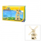 W110 DIY Intellectual Development Wooden Solar Windmill Toy