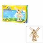 W120 DIY Intellectual Development Wooden Solar Windmill Toy