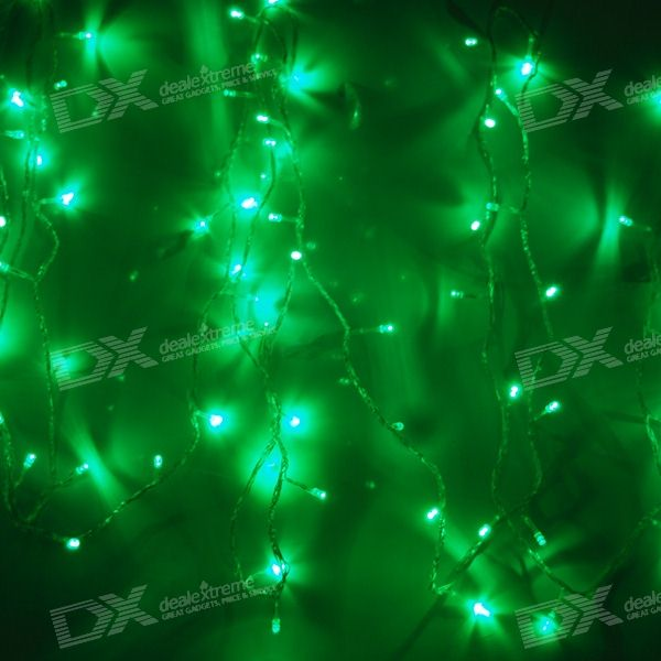 Green 100-LED Christmas/Decoration String Lights (10-Meter/110V AC)
