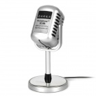 TRANSHINE Classical Vintage Standing Microphone - Silver (DC 5V / 3.5mm Plug)