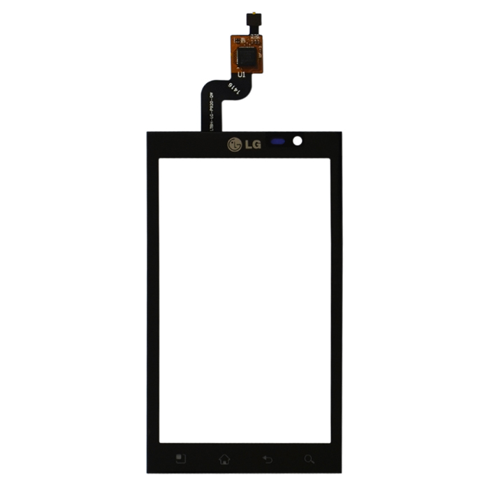 Replacement Touch Screen Glass Digitizer Module for LG Thrill 4G Optimus 3D P920 - Black