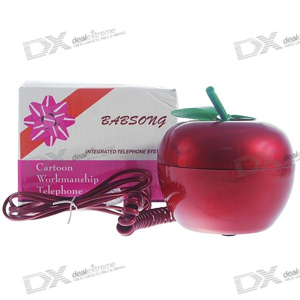 Unique Red Apple Land Line Telephone (Assorted Color)