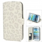 Protective PU Leather Stand Case w/ PC Back Case / Card Slots for Samsung Galaxy S3 i9300 - White