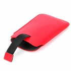 Protective Cord Pull PU Leather Case Pouch Bag for Samsung Galaxy Note 2 N7100 - Red