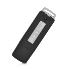 UR-08 USB Flash Drive Voice Recorder - Black + Silver (4GB)