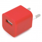 """ZY-1000 """"1000mA"""" USB Power Adapter / Charger for iPhone / iPod - Red (AC 110~240V / EU Plug)"""