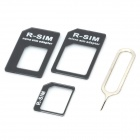 Nano SIM Card to Micro / Standard SIM Card Adapters for IPHONE - Black