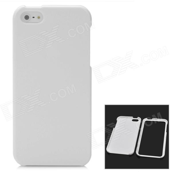 Protective Detachable PC Back Case for Iphone 5 / 5s - White ipsky cool style detachable back case for iphone 5 5s white reddish brown