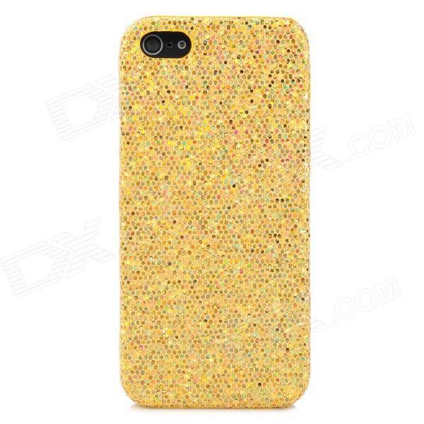Paillette Style Protective Plastic Case for Iphone 5 - Golden protective glittery paillette plastic back case for iphone 5 silver