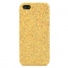 Paillette Style Protective Plastic Case for Iphone 5 - Golden