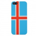 Iceland National Flag Pattern Protective Plastic Case for Iphone 5 - Blue + Red + Grey