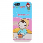 Little Red Riding Hood Girl Eat Cake Pattern Protective Plastic Case for iPhone 5 - Colorful