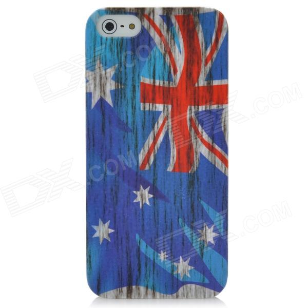 Protective Australian Flag Pattern PC Back Case for Iphone 5 - Blue + White + Red