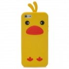 Cute Chicken Style Protective Back Case for iPhone 5 - Yellow + Red