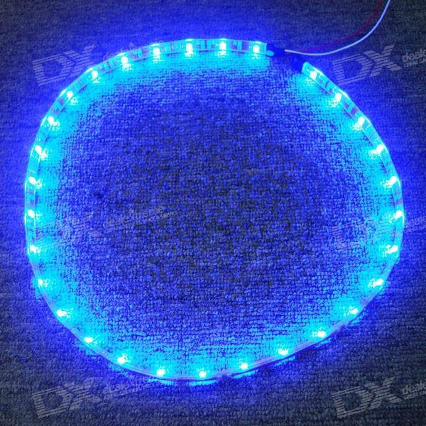 Waterproof 1-Meter 30-LED 4.5W Light Strip - Blue (DC 12V)