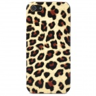 Leopard Pattern Protective Plastic Case for iPhone 5 - Yellow + Black