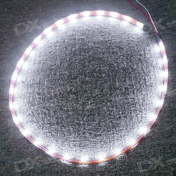 Waterproof 1-Meter 30 LED 4.5W Light Strip - branco (DC 12V)