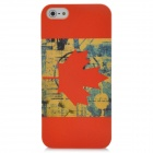 Protective Canada National Flag PC Back Case Cover for Iphone 5 - Red + Yellow