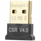 Ultra-Mini Bluetooth CSR 4.0 USB Dongle Adapter - Black + Golden