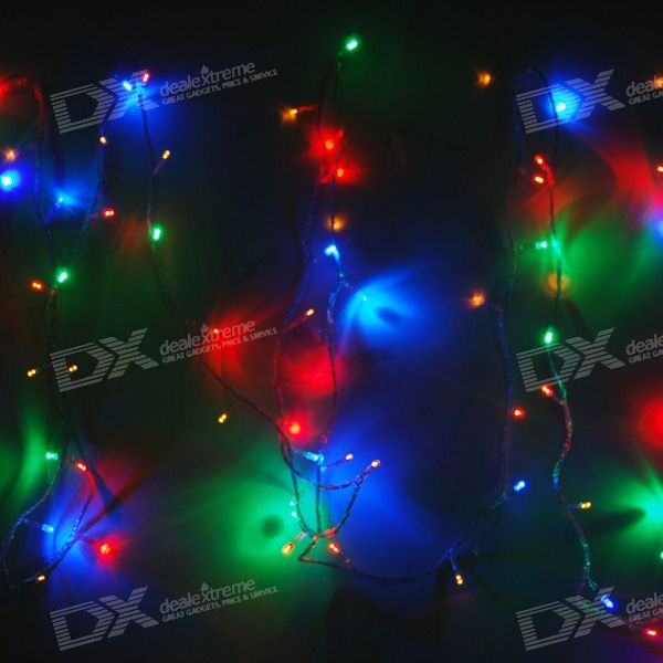 RGB 100-LED Christmas/Decoration String Lights (10-Meter/110V AC)