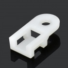Horse Saddle Shape Wire Cable Tie Fixed Mount - White (100 PCS)