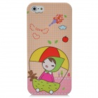 Cartoon Girl Parachuting Protective Plastic Back Case for Iphone 5