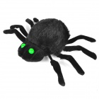 Halloween Sound Transmitter Spider Toy - Black