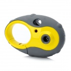 Keychain Style Mini 300KP CMOS Kids Digital Camera Toy - Yellow + Grey