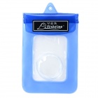 Water Resistant Protective PVC Camera Bag with Strap - Blue + Transparent