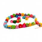 WT710 Wooden Development Enlightenment Educational Numbers / Letters Toys Garden Beads