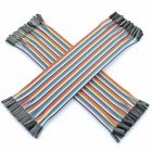1-Pin Female to Female DuPont Cables for Arduino (2 x 40 PCS / 21cm)