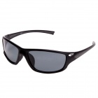 CARABAO K-113 Outdoor Riding PC Frame Resin Lens Protection Polarized Goggle Sunglasses - Black