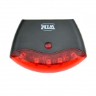 5-LED 4-Mode Red Light Safety Rear Light for Bike / Bicycle - Black