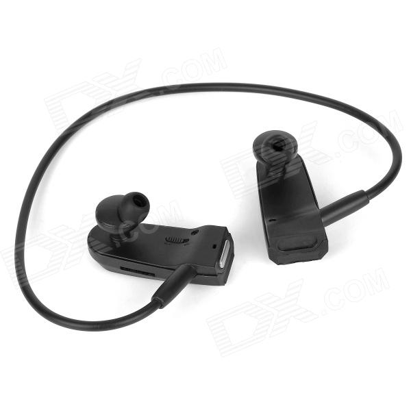 R03 Sports Headphones Type MP3 Player w/ TF / FM - Black