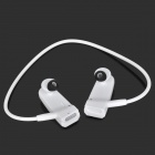 R03 Sports Headphones Type MP3 Player w/ TF / FM - White