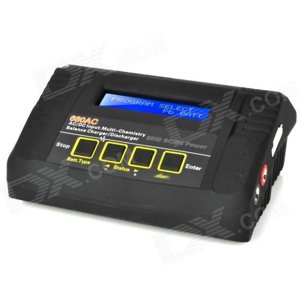 680AC 2.5 LCD RC Battery Balance Charger - Black (AC 100~240V / EU Plug) 10pcs 10cm 100mm rc lipo battery balance charger cable 2s 3s 4s 5s 6s 22awg cable silicon wire plug for imax b3 b6