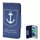 Protective Flip-Open PU Leather Case for Samsung Galaxy S3 i9300 - Blue