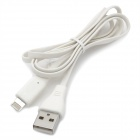 8-Pin Lightning USB Charging Data Cable for iPhone 5 - White (1m)