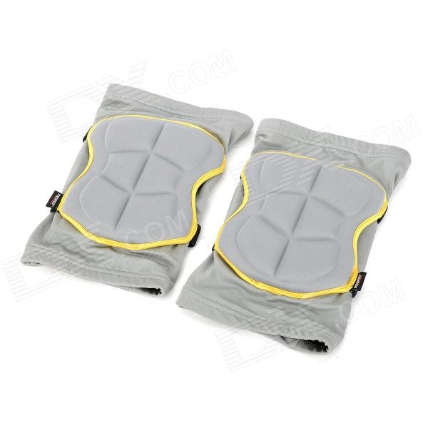 PROPRO SK-003 Skateboarding Skiing Knee Guard Pad - Telegrey + Yellow (Size XI) wodehouse p g blandings castle
