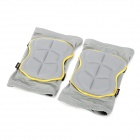 PROPRO SK-003 Skateboarding Skiing Knee Guard Pad - Telegrey + Yellow (2 PCS / Size M)