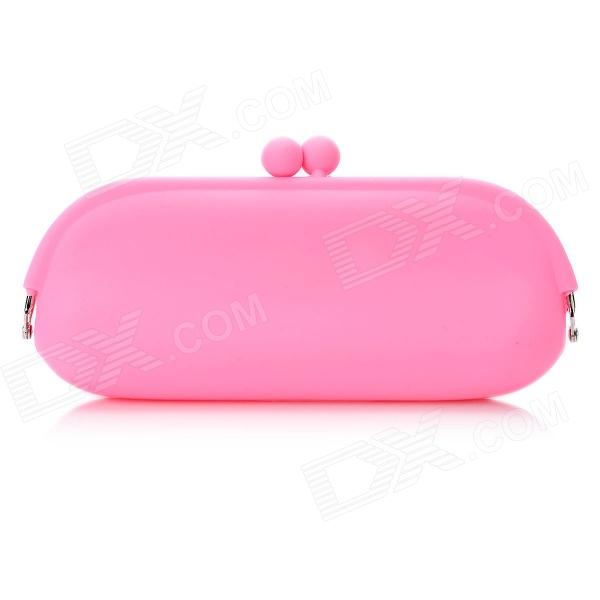 Cute Fashion Horizontal Version Silicone Purse / Mobile Bag - Pink (L Size)