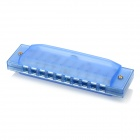 William 10-Hole C-Key Complex Tone Children Harmonica - Blue