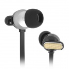 Senmai SM-E1014 In-Ear Earphones w/ Clip - Black + Golden (3.5mm Plug / 117cm)
