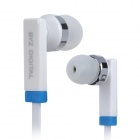 BYZ-S580 Flat In-Ear Earphone w/ Microphone for Iphone 5 - White (3.5mm Plug / 117cm)