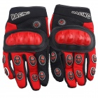 Water Resistant Full-Fingers Motorcycle Racing Gloves - Red + Black (Pair / Size M)