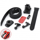 9-in-1 Head Mounted Sports Action Camera Accessories Set - Black