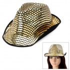 Cool Canvas + Sequins Hat for Stage Play - Golden (20cm)