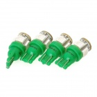 SENCART T10 1.25W 72lm 5-SMD 5050 LED Green Light Car Backup Lamp (12V / 4 PCS)