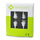 SENCART T10 0.7W 42lm 7-LED White Light Car Brake Lamp (12V / 4 PCS)